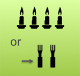 four candles or fork handles