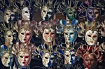 Image of carnival masks for sale